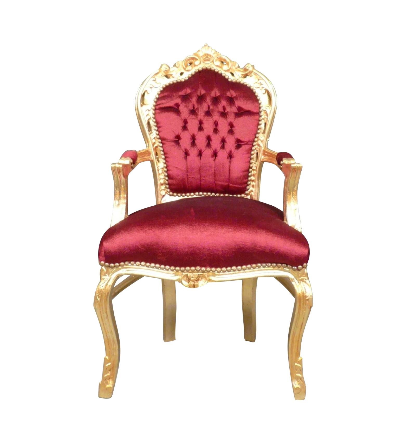 Barok Stoel Fauteuil.Fauteuil Barok Bordeaux En Gouden Stoel Met Art Deco Meubels