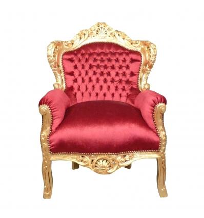 Fauteuil baroque rouge Madrid - Fauteuils baroque royal -