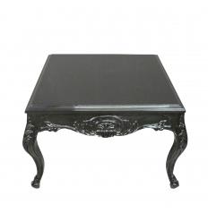 Table basse baroque noire