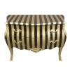 Barocke Kommode mit goldenen Streifen