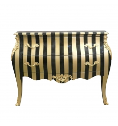 Baroque COMMODE with gold stripes