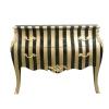 Commode baroque à rayures dorées - Commode baroque - Meuble baroque -