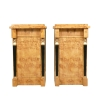 Pair of Empire bedside tables in Elm magnifying glass-Empire furniture -