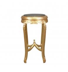 Sellette baroque en bois doré ronde