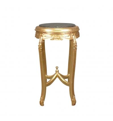 Pedestal-Baroque aus vergoldetem Holz -