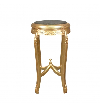 Pedestal-Baroque in gilded wood -