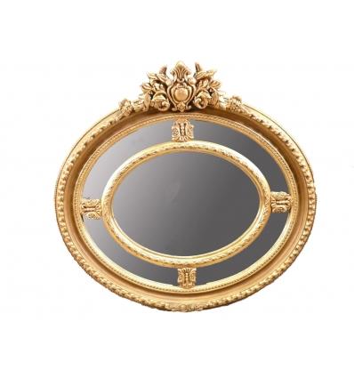 Espejo Luis XV en madera dorada. -
