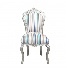 Multicolored baroque chair