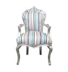 Multicolored baroque armchair