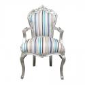 Monivärinen barokki nojatuoli - huonekalut ja sisustus -