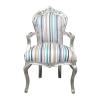 Mehrfarbiger Barocksessel - Stilmöbel und Art Deco -
