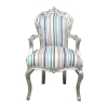 Multicolored baroque armchair - Style furniture and art deco -