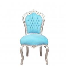 Blauwe barokke stoel