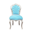 Blue Baroque Chair - Cheap wooden furniture store -
