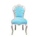 Cadeira barroca azul-loja de móveis de madeira barata -