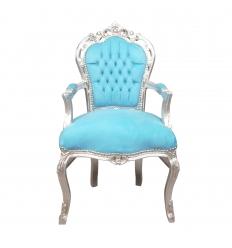 Krzesło niebieskie barokowe