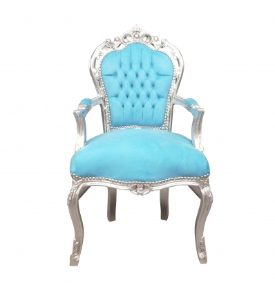 Cadeira barroca azul-loja de móveis barroco barato -
