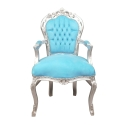 Sininen barokki tuoli-barokki Halvat Furniture Store -