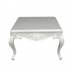 Table basse baroque argent