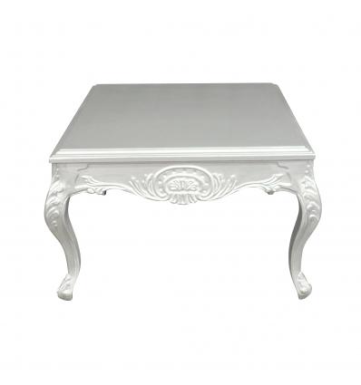 Table basse baroque argent - Meuble baroque -
