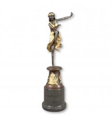 Bronze-Statue af en danser