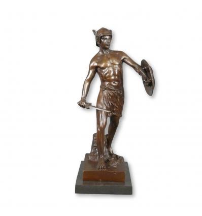 Sculptures bronze - Le gladiateur - Statue bronze romaine