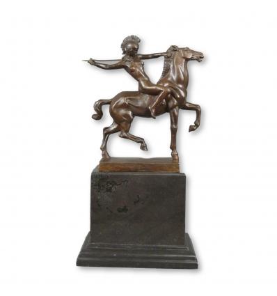 Statue bronze - L' Amazone - Reproduction de Franz Von Stuck -Sculpture bronze
