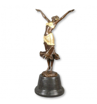 Art Deco Bronzeskulptur - Tänzerin - Statuetten -