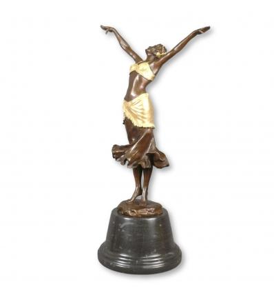 Rzeźba z brązu w stylu art deco Tancerka - Figurki ozdoby -