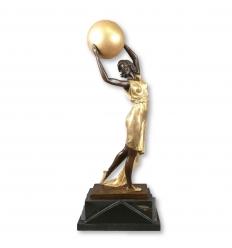 Скульптуры бронзовые арт деко - танцор с мячом