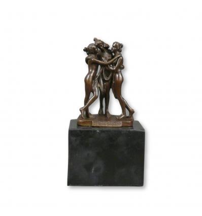 Estatua de bronce de las tres gracias - Diosas -