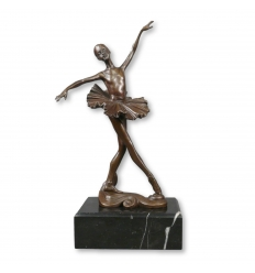 Bronze statue of a young dancer