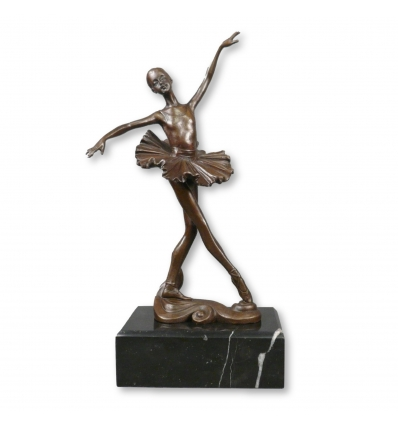 Bronzestatue eines jungen Tänzers - Skulptur mit zwei Patina -