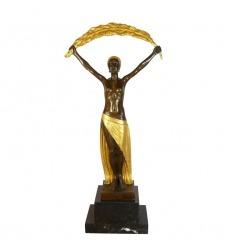Escultura de bronce art deco