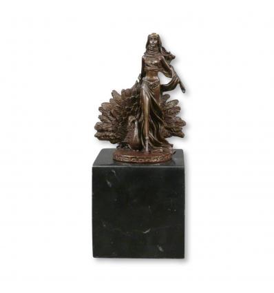 Estatua de bronce de la diosa Hera, estatuas de dios griego y romano. -