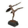 Statua in bronzo art deco