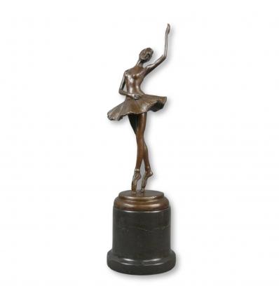 Statue en bronze d'une jeune danseuse