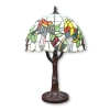 Tiffany lampe Vögel und Baum