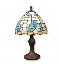 Lampe Tiffany fleur de lys bleue