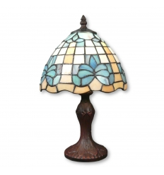 Tiffany lamp blue lily flower