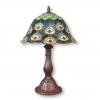 Lámpara de pavo de tiffany