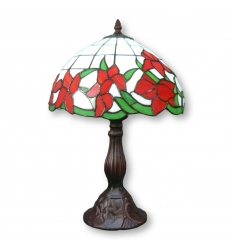 Lampada Tiffany con tulipani