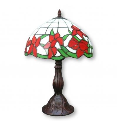 Lámpara Tiffany con tulipanes.