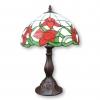Lámpara de cristal Tiffany con tulipanes