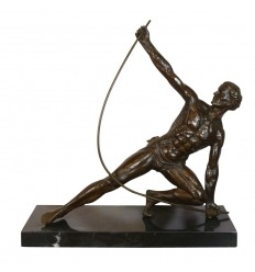 Bronze art deco sculpture - The Bendeur