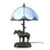 Lampe Tiffany bleue - Pied cheval