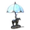 Lampe Tiffany abat-jour bleu