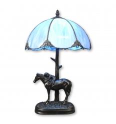 Blå Tiffany lampe