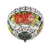 Plafonnier Tiffany roses - Lampes Tiffany