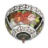 Tiffany Deckenleuchte mit roten rosen - Tiffany lampe